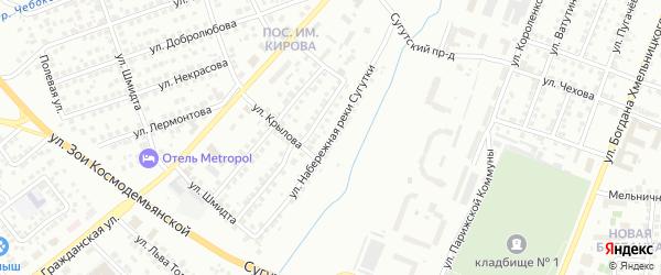 Улица Набережная реки Сугутки на карте Чебоксар с номерами домов
