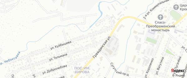 Улица Тимирязева на карте Чебоксар с номерами домов
