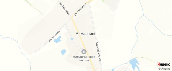 Карта села Алманчино в Чувашии с улицами и номерами домов
