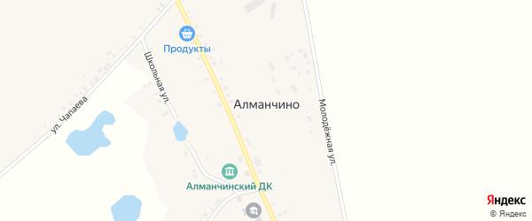 Молодежная улица на карте села Алманчино с номерами домов