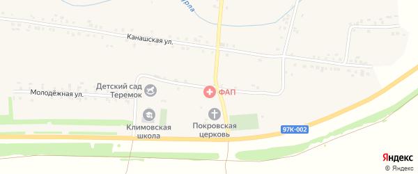 Школьная улица на карте села Климово с номерами домов