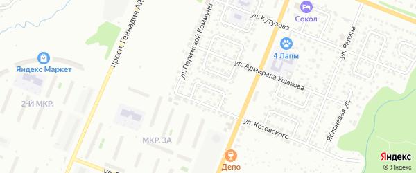 Улица Адмирала Нахимова на карте Чебоксар с номерами домов