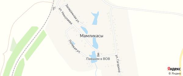 Полевая улица на карте деревни Мамликас с номерами домов