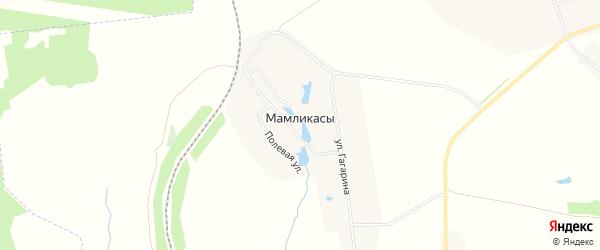 Карта деревни Мамликас в Чувашии с улицами и номерами домов