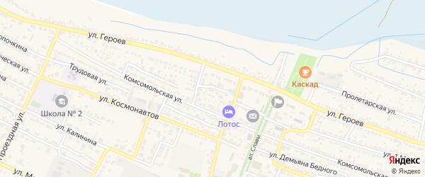 Тихий переулок на карте поселка Лимана с номерами домов