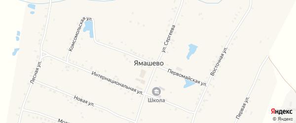 Первомайская улица на карте села Ямашево с номерами домов