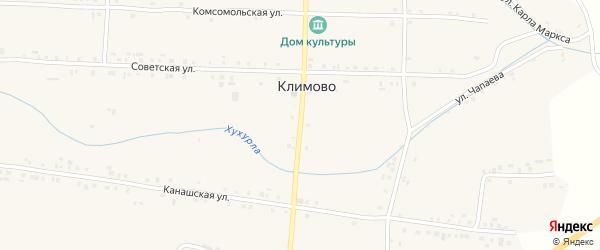 Мостовая улица на карте села Климово с номерами домов