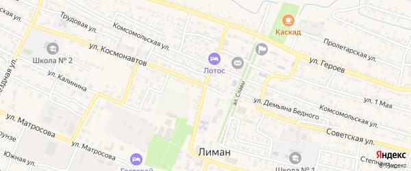 Электрическая улица на карте поселка Лимана с номерами домов