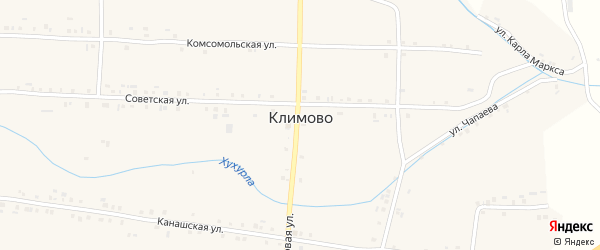 Набережная улица на карте села Климово с номерами домов