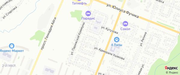 Улица Академика Павлова на карте Чебоксар с номерами домов