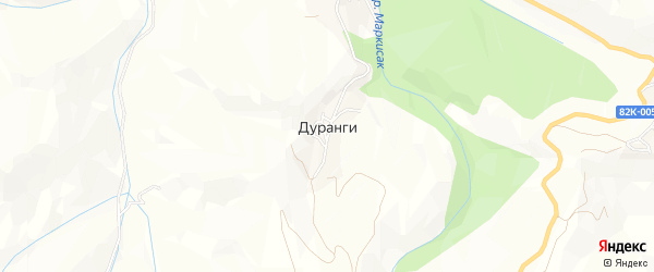 Карта села Дуранги в Дагестане с улицами и номерами домов