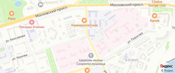 Заводская улица на карте Чебоксар с номерами домов