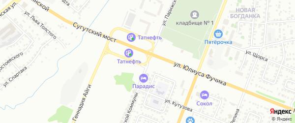 Улица Парижской Коммуны на карте Чебоксар с номерами домов
