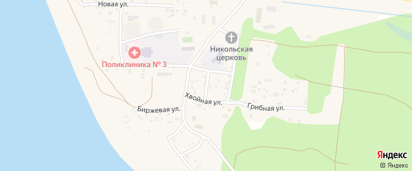 Больничная улица на карте поселка Сосновки с номерами домов