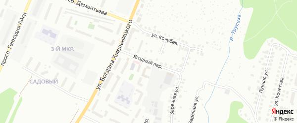 Ягодный переулок на карте Чебоксар с номерами домов