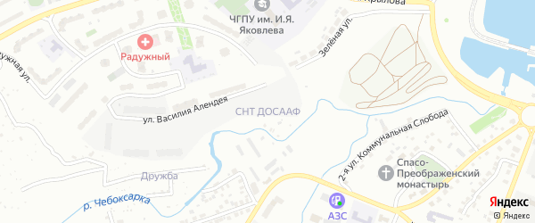 Территория сдт ДОСААФ на карте Чебоксар с номерами домов