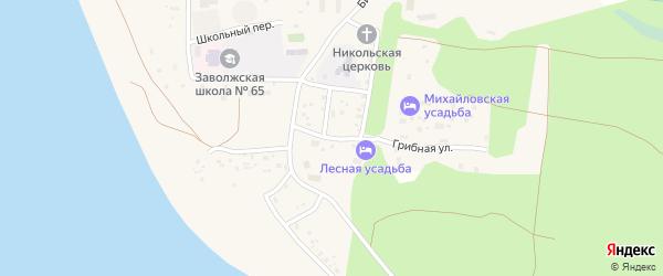 Хвойная улица на карте поселка Сосновки с номерами домов