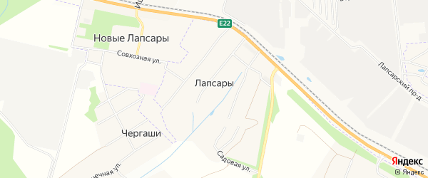 Карта деревни Лапсары в Чувашии с улицами и номерами домов