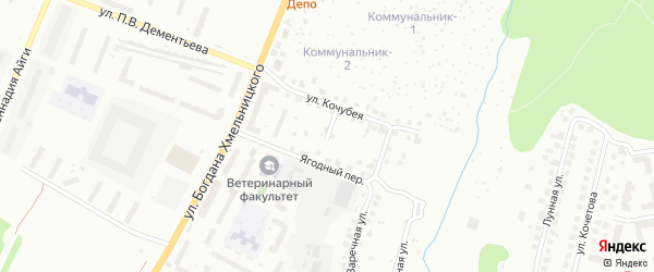 Кошкинский переулок на карте Чебоксар с номерами домов