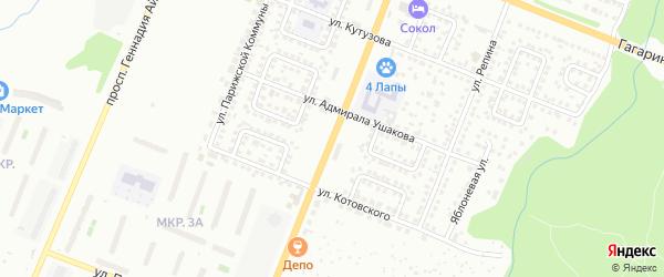 Улица Богдана Хмельницкого на карте Чебоксар с номерами домов