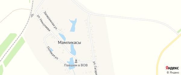 Улица Гагарина на карте деревни Мамликас с номерами домов
