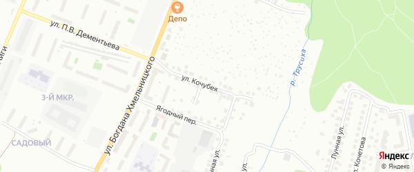 Улица Кочубея на карте Чебоксар с номерами домов