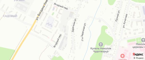 Заречная улица на карте Чебоксар с номерами домов