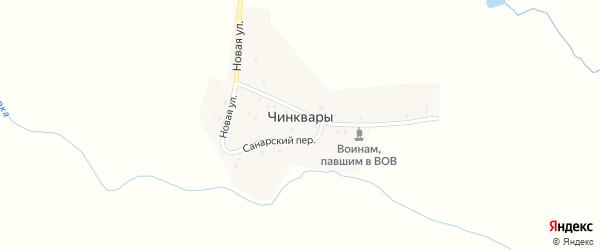 Санарский переулок на карте выселков Чинквары с номерами домов