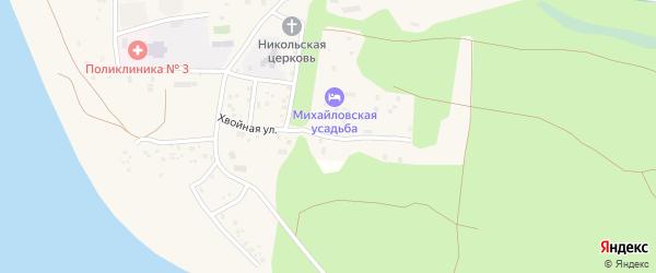 Грибная улица на карте поселка Сосновки с номерами домов