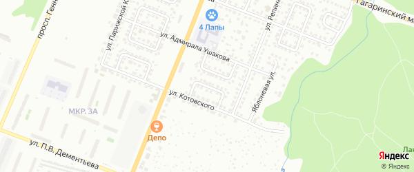 Улица Жуковского на карте Чебоксар с номерами домов