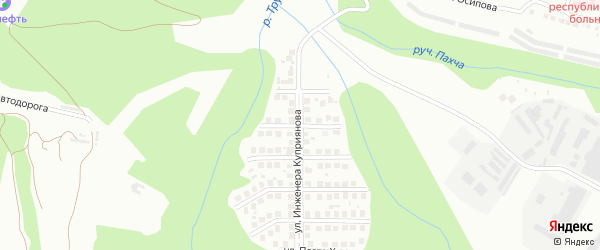 Улица Жени Трилинского на карте Чебоксар с номерами домов