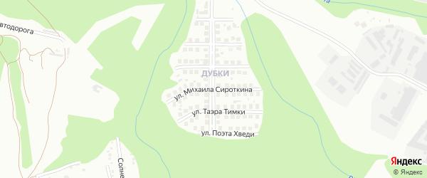 Улица Михаила Сироткина на карте Чебоксар с номерами домов