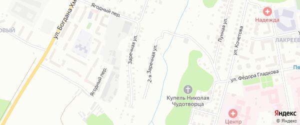 2-я Заречная улица на карте Чебоксар с номерами домов