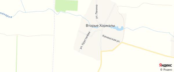 Карта деревни Вторые Хормалы в Чувашии с улицами и номерами домов