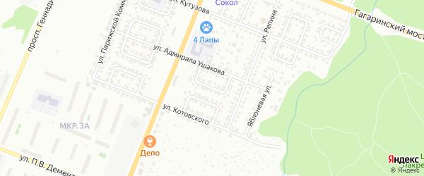 Улица Циолковского на карте Чебоксар с номерами домов