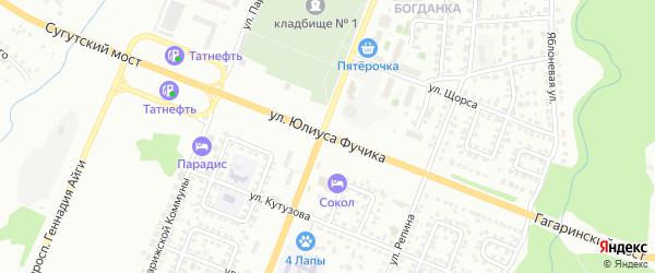 Улица Ю.Фучика на карте Чебоксар с номерами домов