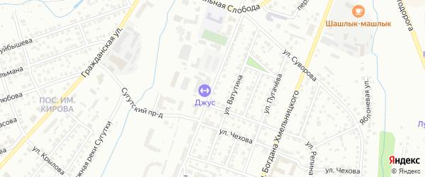 Улица Короленко на карте Чебоксар с номерами домов