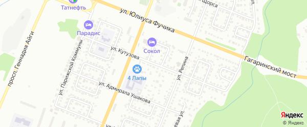 Улица Кутузова на карте Чебоксар с номерами домов