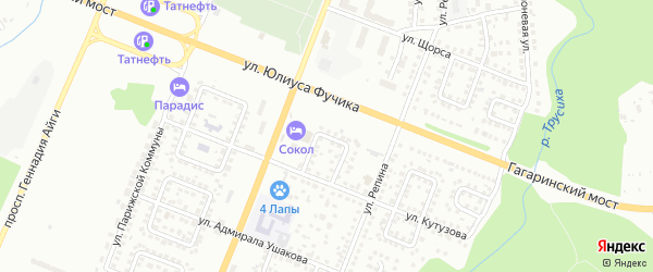 Улица Кулибина на карте Чебоксар с номерами домов