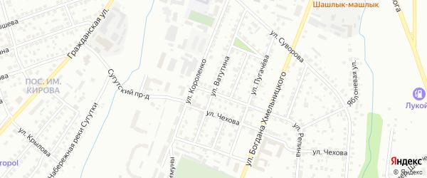 Улица Ватутина на карте Чебоксар с номерами домов