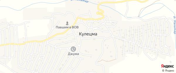 Улица Алихаджи Афанди на карте села Кулецма с номерами домов