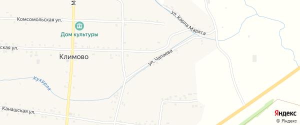 Улица Чапаева на карте села Климово с номерами домов