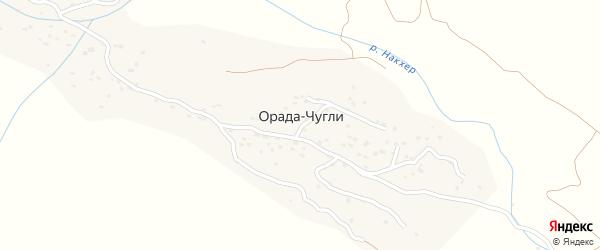 Школьная улица на карте села Орады-Чугли с номерами домов