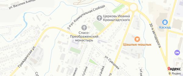 Улица Коммунальная Слобода на карте Чебоксар с номерами домов