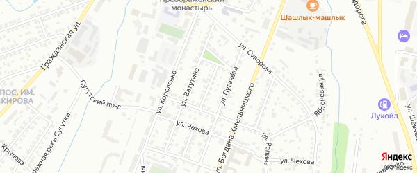 Совхозный переулок на карте Чебоксар с номерами домов