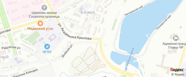 Улица Академика А.Н.Крылова на карте Чебоксар с номерами домов
