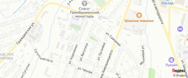Совхозная площадь на карте Чебоксар с номерами домов