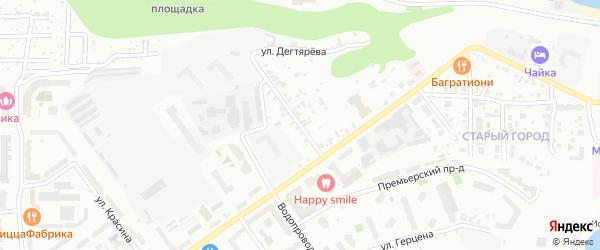 Улица Дегтярева на карте Чебоксар с номерами домов