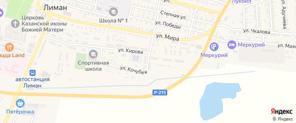 Мелиоративная улица на карте поселка Лимана с номерами домов