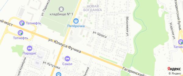 Улица Попова на карте Чебоксар с номерами домов
